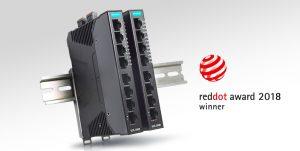 Smarta Ethernetswitchen SDS-3008 från Moxa vinner det prestigefyllda Red Dot Award 2018