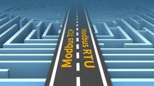 Bild som illustrerar den enkla konverteringen mellan Modbus TCP och Modbus RTU