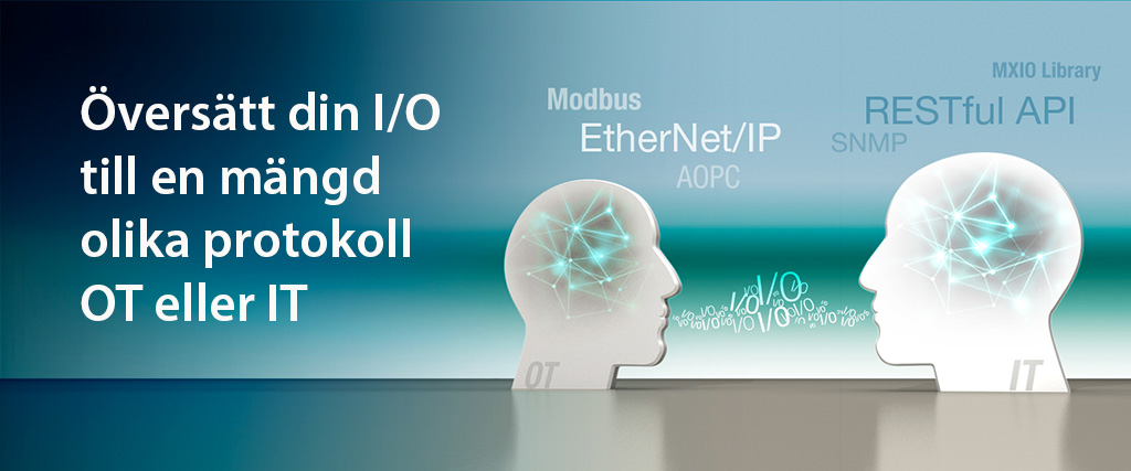 Översätt I/O data till olika protokoll EtherNet/IP, Modbus , AOPC mfl med IoLogik eller en edge gateway