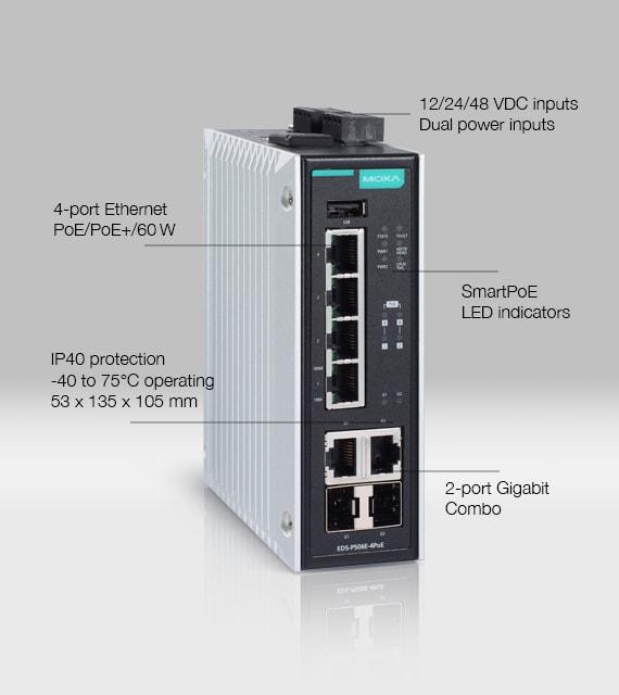 Bild på EDS-P506 PoE switch