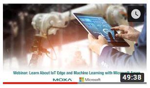 Poster for Moxa och Microsoft Azur IoT Edge webinar
