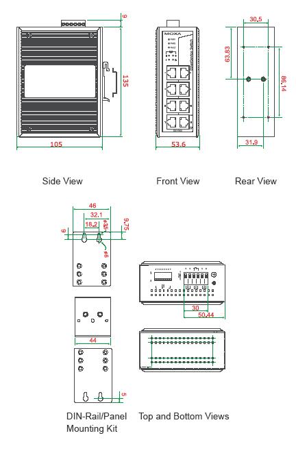 EDS-P308_dimensions