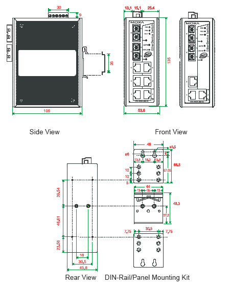 EDS-405A408A_Dimension
