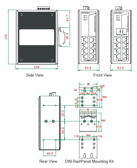 EDS-G308_dimensions