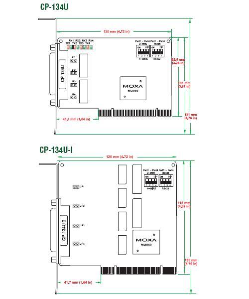CP-134U_U-I_Dimensions