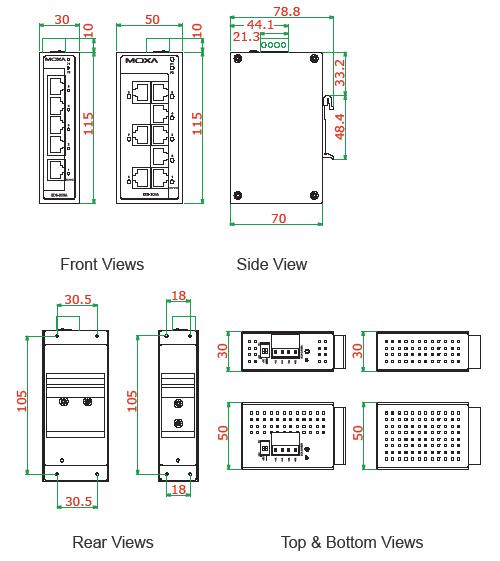 EDS-205A208A_dimensions