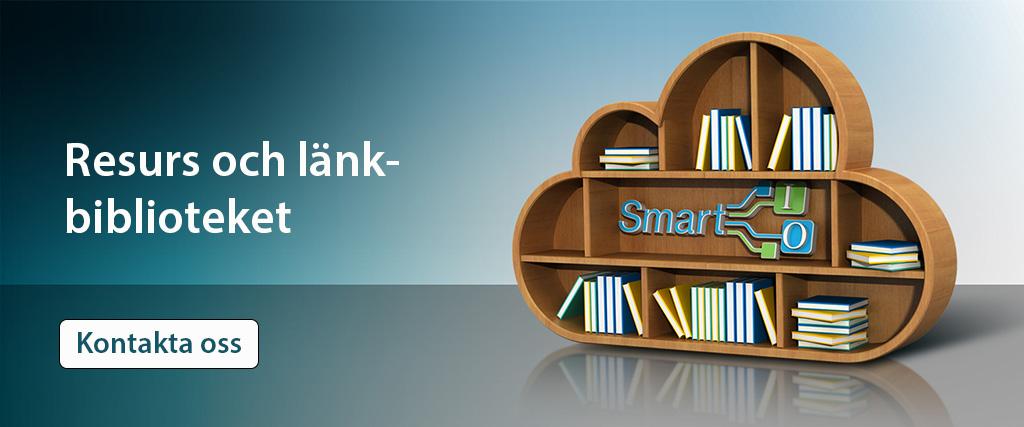 Bild som symboliserar Smart IOs Resurs och länkbibliotek och en kontakta oss knapp