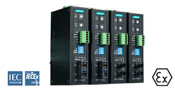 4 coola Ex-klassade ICF-1150 konverterare för serie över optisk fiberkabel