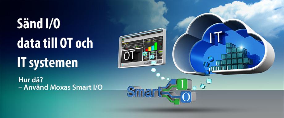 Bild på Smart IO som sänder data till OT system och IT moln
