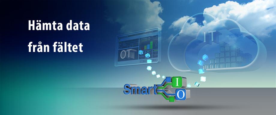 Bild på Smart IO som kan konvertera IO data till 6 olika protokoll ex Modbus TCP eller SNMP