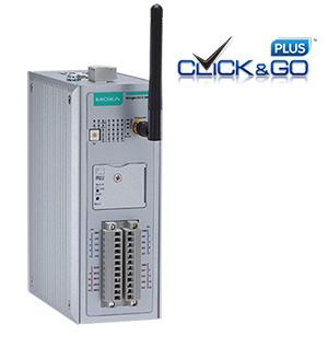 Bild på IoLogik 2542 med en WiFi antenn