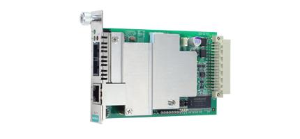 Bild på fiberkonverterar modul för NRack från Moxa