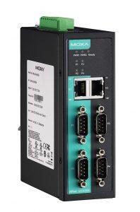 Bild på 4 portars deviceserver med fiberportar ocg IECEx godkännande