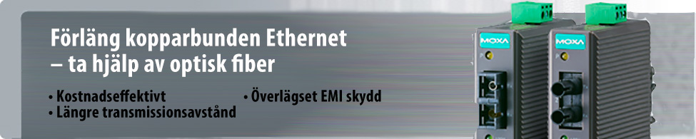 Bild på 2 gråa Ethernet i koppar till Ethernet optisk fiber kabel konverterare, IMC 21