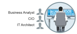 Bildsymbol för IT person Affärsanalytiker, CIO, IT arkitekt etc.