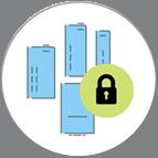 Bild på enhet med lås som ska symbolisera en säker enhet