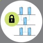 Bild som ska symbolisera säker nätverksstruktur