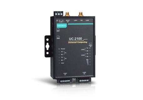 Moxa kompakta UC2100-w med nb-iot och cat-m1 arm-based computer