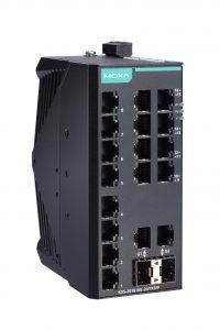 Bild på den kompakta Ethernetswitchen EDS-2018-ML från Moxa