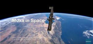 Moxas trådlösa accesspunkter finns i rymden, på ISS rymdstation. Bild över jordklotet