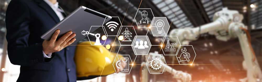Bild för att visualisera industriella nätverk och olika arbetssätt