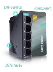 Pyttelilla Ethernetswitchen EDS-2005-EL från Moxa, nyhet 2020