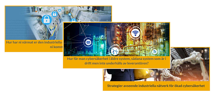 Bilder på de 3 gula cybersecurity sidorna 2019-2020