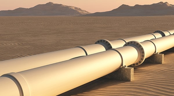 Pipeline i öken
