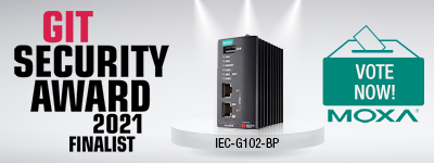 Banner, vote for Moxa IEC-G102-BP in the contenst Git Security Award 2021, click here!