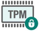 TPM chip och låst lås