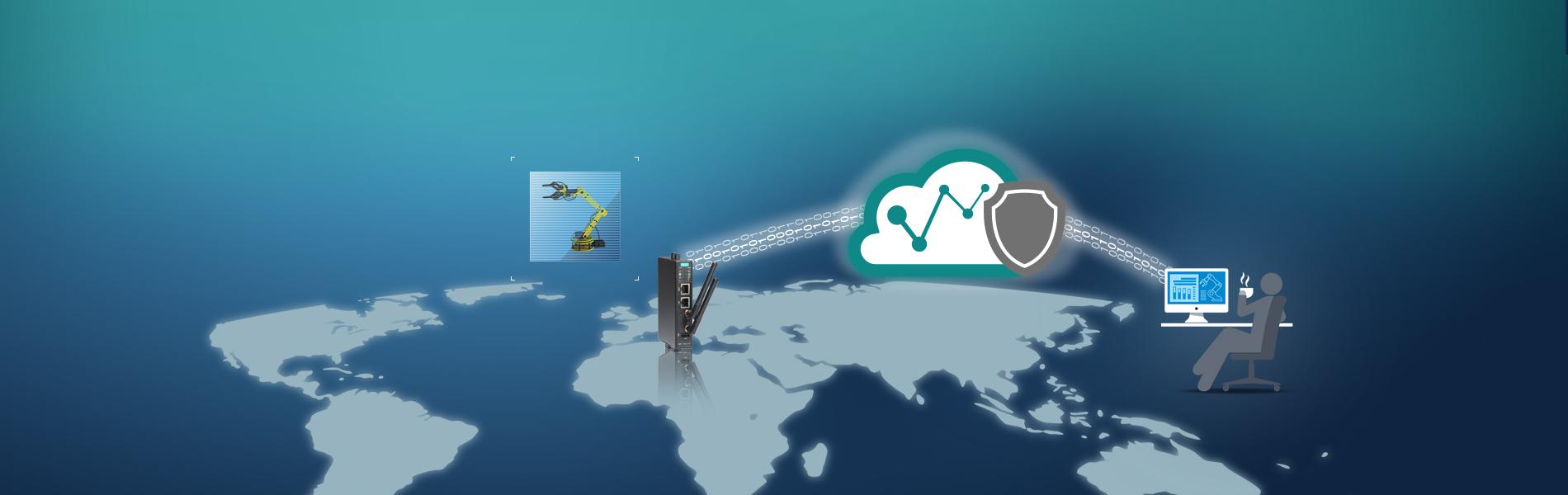 Lättanvänd och säker fjärråtkomst med Moxa Remote Connect MRC-1002