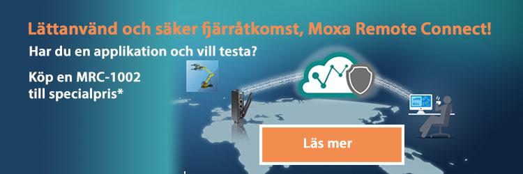 Moxa Remote Connect säkrare fjärråtkomst remote IO MRC-1002 med eller utan LTE modul, köp rabatterat exemplar för 17 maj 2021
